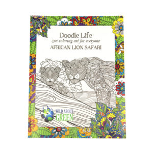 African Lion Safari Colouring Book