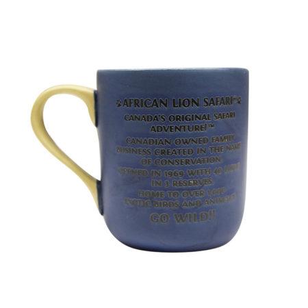 African Lion Safari Blue Mug Back