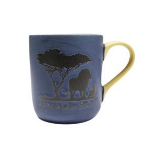 African Lion Safari Blue Mug Front