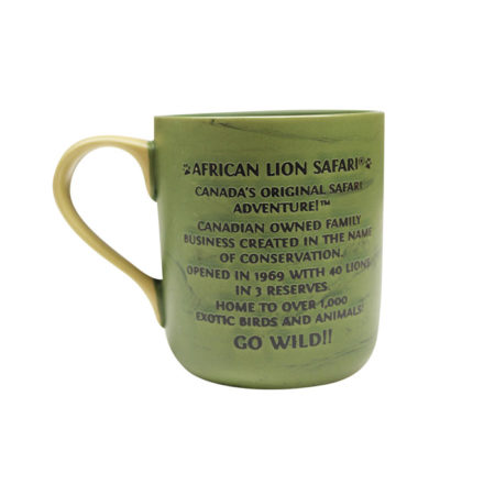African Lion Safari Green Mug Back