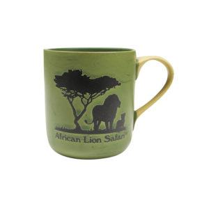 African Lion Safari Green Mug Front