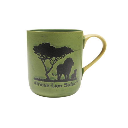 African Lion Safari Green Mug Front