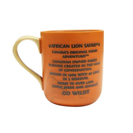 African Lion SafariOrange Mug Back