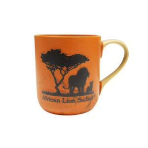 African Lion Safari Orange Mug front
