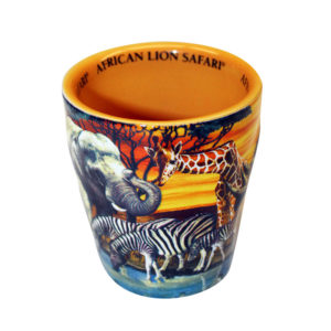African Lion Safari Shot glass Embossed