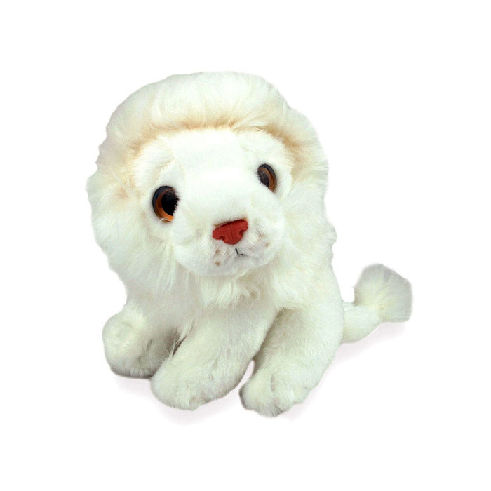 lion plush white