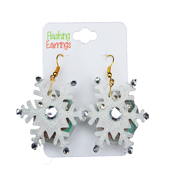 Flashing Earrings-Snowflake