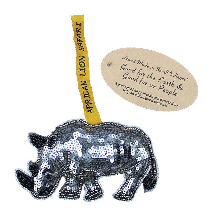 Small Villages Ornament Rhino